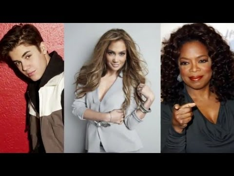 Forbes 2012 - Jennifer Lopez, Justin Bieber Top Celebrity 100 List!