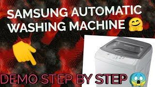 How to Use SAMSUNG AUTOMATIC WASHING MACHINE #ad #popular #howto #YouTube