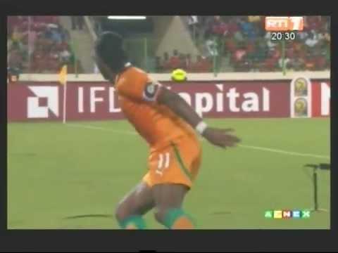 CAN 2012/Quart de finales.Côte d'Ivoire - Guinée Equatoriale. 2ème But de Didier Drogba
