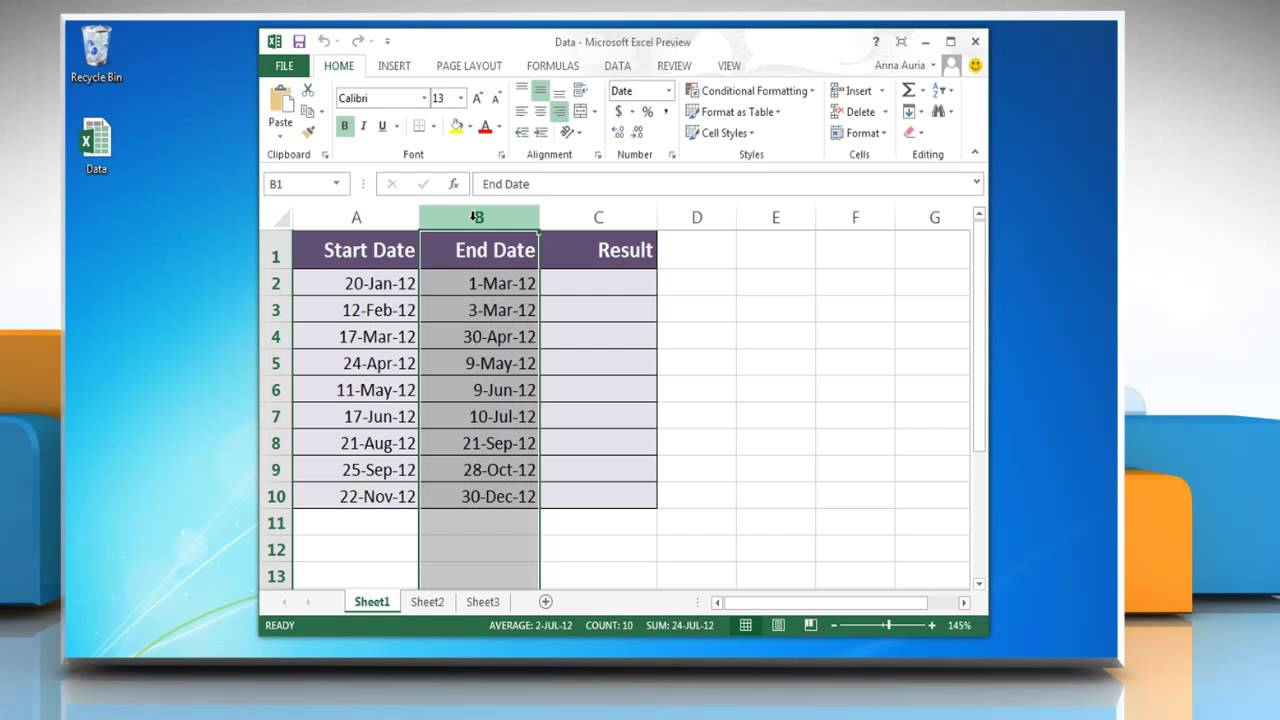 Add or subtract dates - Excel