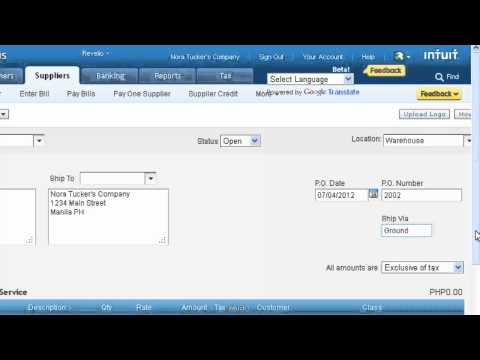 How to Record a Purchase Order In QuickBooks Online  [Video Tutorial]