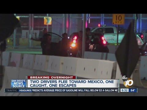 Chase ends at border, minivan escapes into Mexico