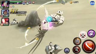 [Bleach Brave Souls] Aizen (4th fusion version/Butterfly Aizen) lvl 200 PVE Gameplay (raids)