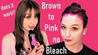 Dying Brown Hair Pink- No Bleach No Damage Arctic Fox Review