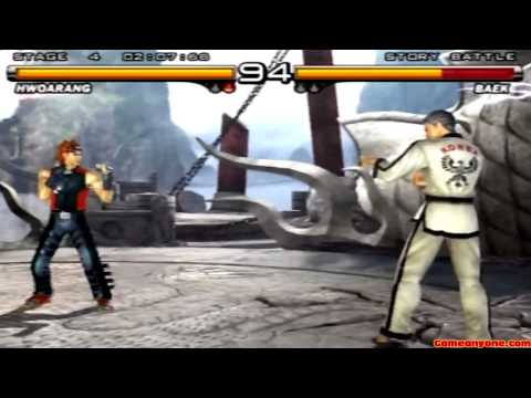 Tekken 5 - Story Battle - Hwoarang Playthrough video