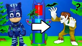PJ Masks Catboy Finds Werewolf Costume in Spooky Transforming Towers