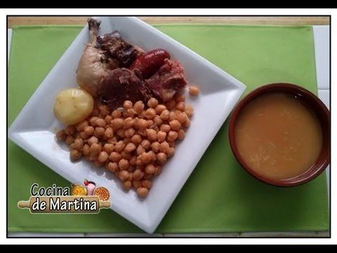 Cocido madrileño fácil en olla exprés| Recetas de cocina | Cocina de Martina