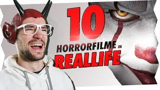 10 HORRORFILME IN REALLIFE ! | ApeCrime | REACTION