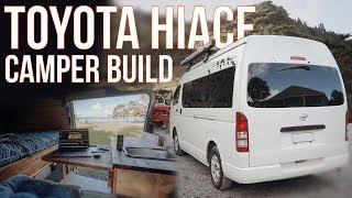 Toyota Hiace Camper Build NZ - Walk around, 7 Day Build #vanlife