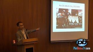Tiến sĩ Tường Vũ trình bày tại Diễn Đàn Biển Đông, UC Berkeley