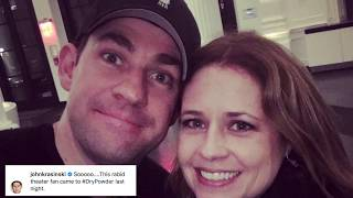Jenna Fischer And John Krasinski Rooting For Different Teams in Stanley Cup Final