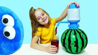 Watermellon and fruit juice - Learn colors with