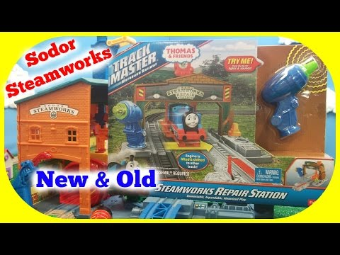 Thomas and Friends - Sodor Steamworks - Spin and Fix Thomas - Old and New Compared!