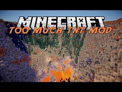 Minecraft Mod Showcase - TOO MUCH TNT - (Too Much TNT Mod Showcase