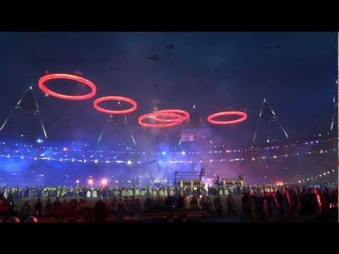 London 2012 Olympic Games Opening Ceremony: Pandemonium - the rings are formed!