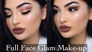 Full Face + Cut Crease Glam Makeup Look | Dilara Duman