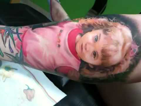 Stevie Monie portrait realistic tattoo