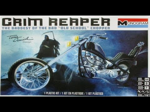 How to Build the Grim Reaper Chopper by Tom Daniels 1:8 Scale Monogram Kit  #85-7541 Review