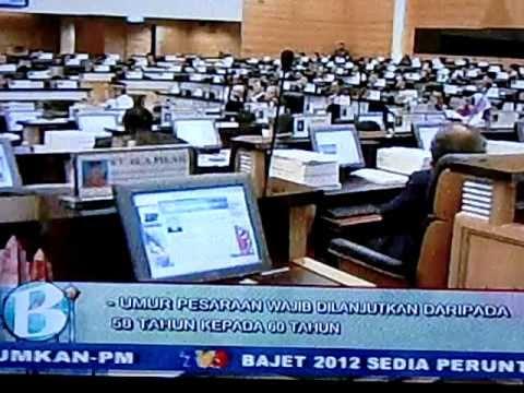 Malaysian Budget 2012 on retirement age 071011 CIMG0946.AVI