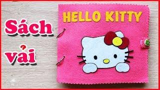 Quiet book dollhouse, Sách vải cắm trại picnic cùng mèo Hello Kitty, học kĩ năng - Đồ chơi Chim Xinh