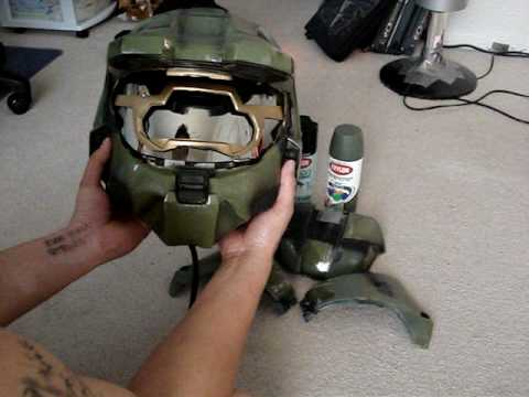 Tutorial - How to make a Halo 3 Master Chief Motorcycle Helmet (Legendary Edition)