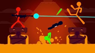 NEW LAVA WEAPONS AND LEVELS!? (Stick Fight)