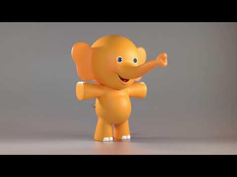 Hipp Elefant in 3D