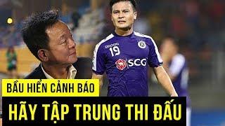Bầu Hiển siết kỷ luật với Quang Hải sau khi HLV Hà Nội FC bị cấm 2 trận
