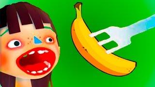 ГОТОВКА ЧЕЛЛЕНДЖ #3 - ЕДА разного ЦВЕТА - веселая игра Развлечение видео для детей #ПУРУМЧАТА
