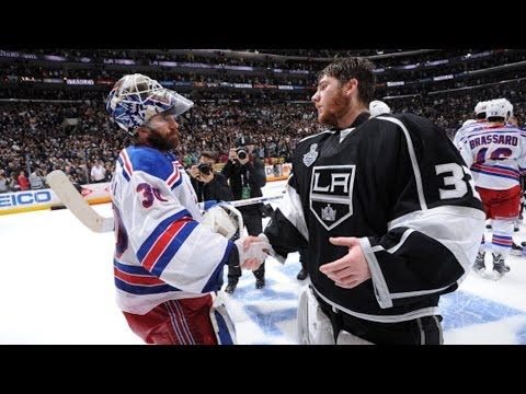 Rangers and Kings shake hands after Game 5