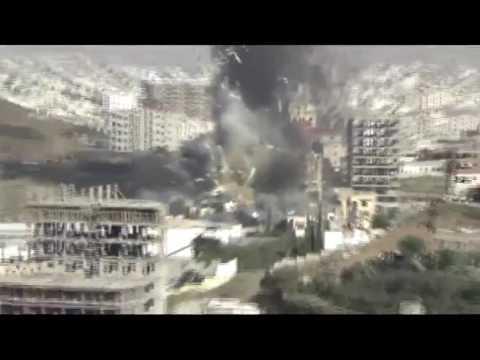 فيديو: لحظة أنفجار «الصالة الكبرى» في عزاء بيت آل الرويشان بصنعاء