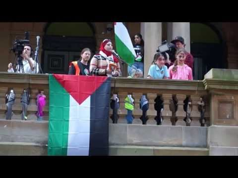 Free Gaza Movement protest: Palestinian woman speaks
