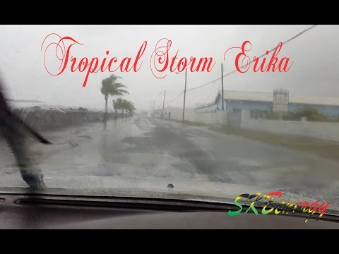 Special Report !!! Tropical Storm Erika in St. Kitts