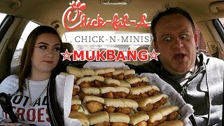 Chick-fil-A ☆CHICK-N-MINIS™ MUKBANG w/Daughter☆ Food Review!!!