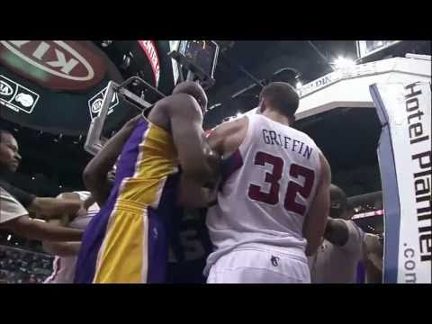 Lakers and Clippers FIGHT [HD] (1/17/11)
