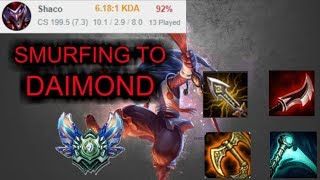 Shaco Jungle Smurf to Diamond - Platin 3 Ranked [League of Legends] Full Gameplay - Infernal Shaco