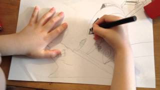 6 years old boy teaches you to draw Dreamworks Turbo