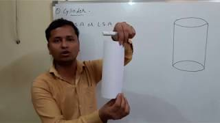 Volume and surface area of cylinder class 9