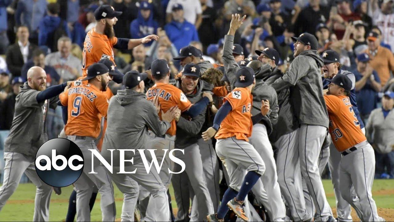 Houston Astros celebrate their 1st World Series Championship