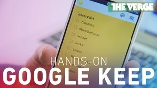 Google Keep hands-on