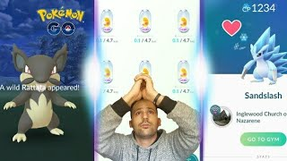 Hatching 9 Alolan Eggs At Once + 100% Articuno + Alolan Rattata - Pokemon GO