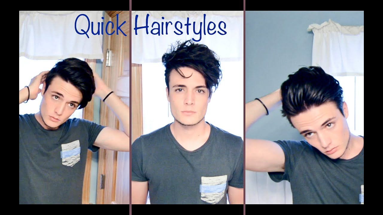 Mens Hair Quick And Easy Hairstyles Youtube