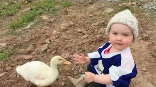 Funny Baby Video 2020_Funny Baby With Animals Fails Moments|funny videos hks #2