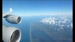 LH464: Approach and Landing at Orlando Airport - with Lufthansa Airbus A340-600 (D-AIHD)