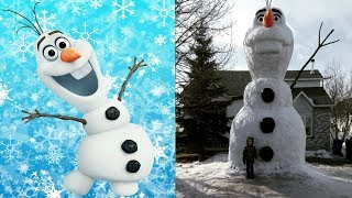 Frozen In Real Life All Characters 2017 #olaf