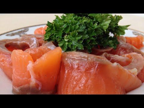 Как солить красную рыбу (Очень быстро и просто) salmon