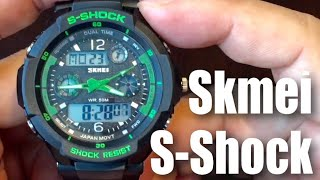 $13 Fanmis Skmei Sport Multifunction Green LED Light Digital Waterproof S - Shock Watch