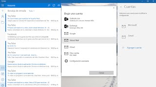 Cuentas y Notificaciones de Mail Windows 10