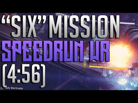 """Destiny 2 - """"Six"""" Mission Speedrun WR! (4:56)"""