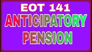 Anticipatory pension calculation step by step